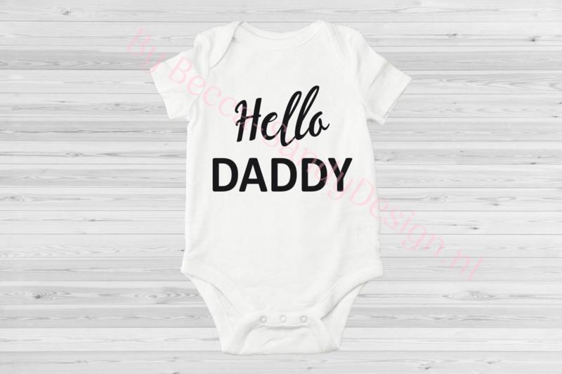 Baby romper Hello Daddy