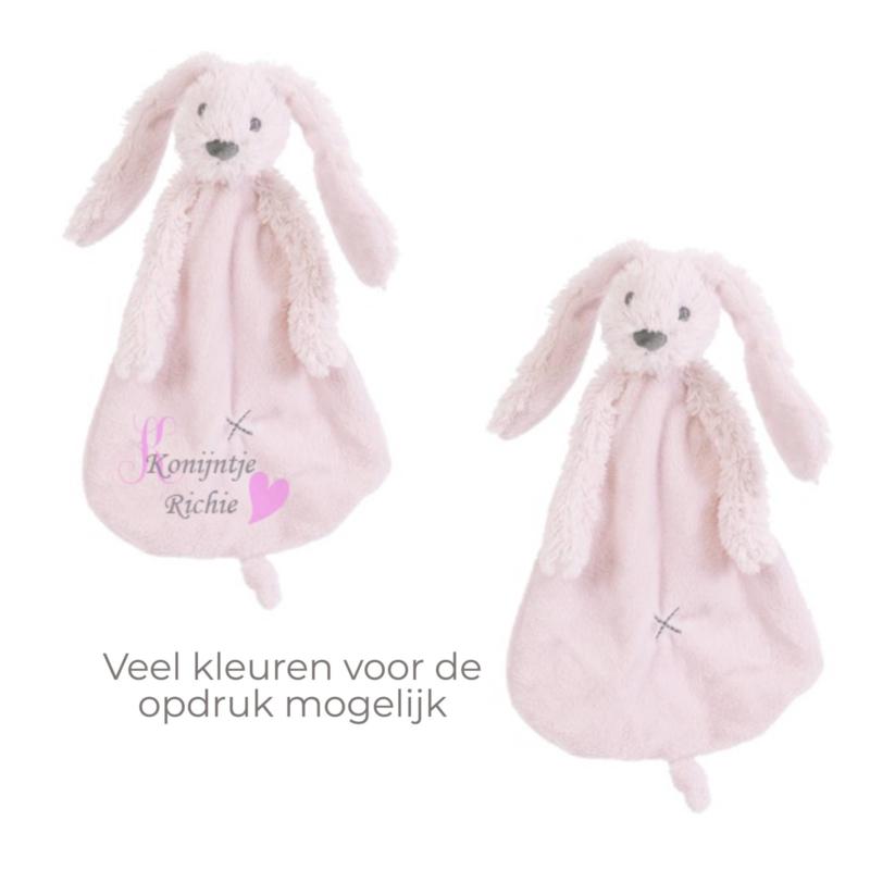 Rabbit Richie Roze  knuffeldoek