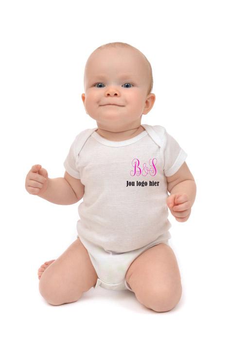 Babyromper met eigen tekst of bedrijfslogo
