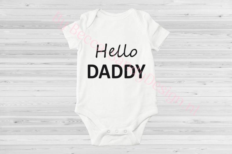 Baby romper Hello Daddy 1