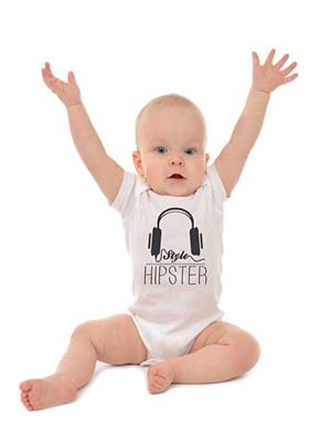 Hipster baby romper