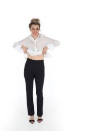 Haer Pant 2 - Flared pantalon donkerblauw
