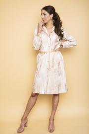 Haer Party 37 - Blouse jurk in wit, roze en goud