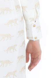 Haer Business 3 - Blousejurk wit met gouden luipaardjes