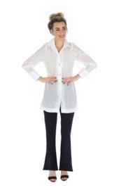 Haer Top 3 - Overhemdblouse in wit