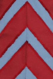 Haer Casual 3 - A-lijn jurkje in jeansblauw met rood