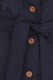 Haer Business 4 - Blousejurk in donkerblauw
