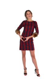 Haer Day Casual 3 - ruit rood/blauw