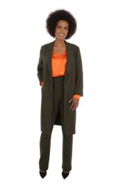 Haer Coat 1 - Colbert jas in olijf groen