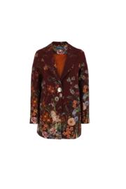Haer Suit 1 - bordeaux bloemprint