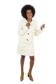 Haer Day 12 - A-lijn jurk in off white met goud