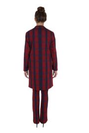 Haer suit 1 rood-blauwe ruit