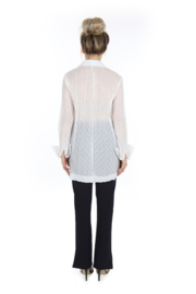 Haer Top 3 - Overhemdblouse in wit