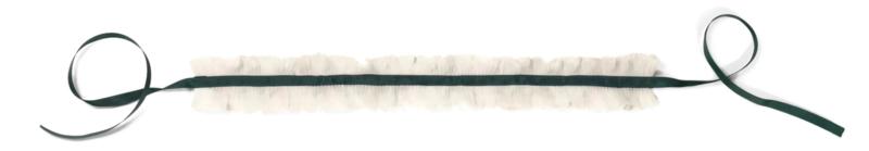 Haer accessoire 22 los plissé kraagje groen
