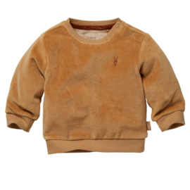 LEVV newborn LEE sweater velours sand