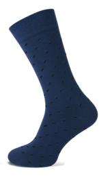 TECKEL 17028 herensokken blauw stip  40-46