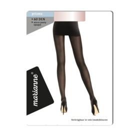 Marianne panty 60 denier almost black