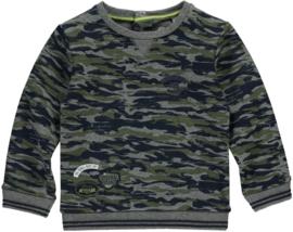 QUAPI Vik sweater Dark green army