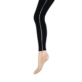 Yellow Moon 20261 Legging Long Zwart streep zilver