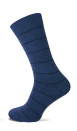 TECKEL 17028 herensokken blauw streep 40-46