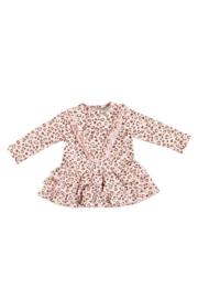 Le Chic 9894 Dress all-over 'Chic' logo Cinnamon