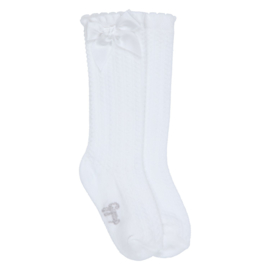 Gymp 1002 Girls knee socks White