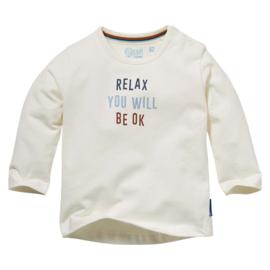 QUAPI shirt Nelis offwhite letters