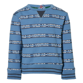 QUAPI Eran sweater Indigo blue text
