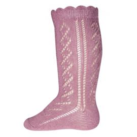 Ewers 605014 kniekous ajour - traforato - dusty roze
