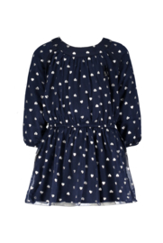 Le Chic 78650 Dress with glitter hearts navy