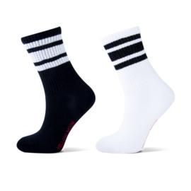 YELLOW MOON 21039 sok 2 paar Sport zwart/wit