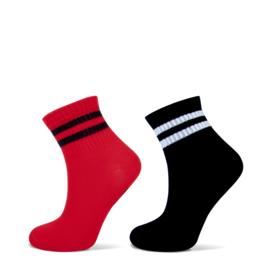 YELLOW MOON 21041 lage sok sport zwart /rood