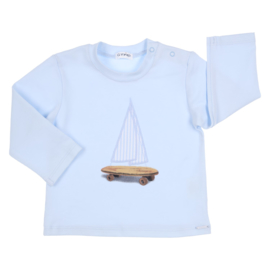 Gymp 0066 Longsleeve zeilboot Lichtblauw