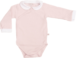 Mats&Methe 0628 Romper kraagje Rose/wit