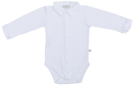 Mats&Methe 0068 Romper boy kraagje White
