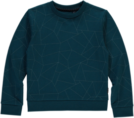 LEVV Sweater DINAND Teal Blue Geometric