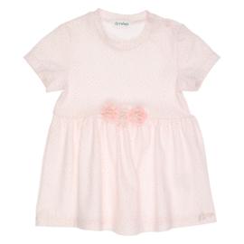 Gymp 1407 jurk Trixie bloemetje Wit/rose