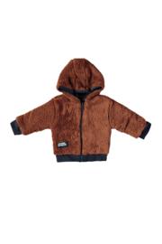 Le Chic Garcon 0290 Reversible cardigan soft teddy Cinnamon