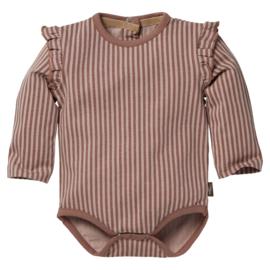 LEVV newborn BELINA romper roze gestreept