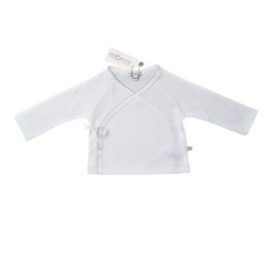 Mats&Methe 0061 Unisex Overslagshirtje White