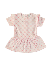 Le Chic 9892 Dress allover Chic logo Pink