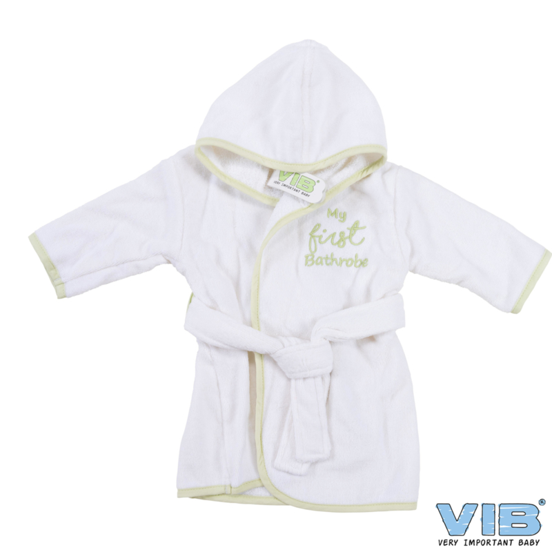 VIB badjas My first bathrobe Wit/Mint