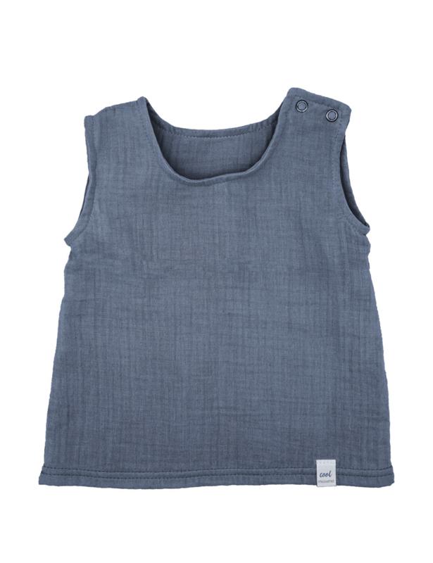 Maximo top organic cotton blauw