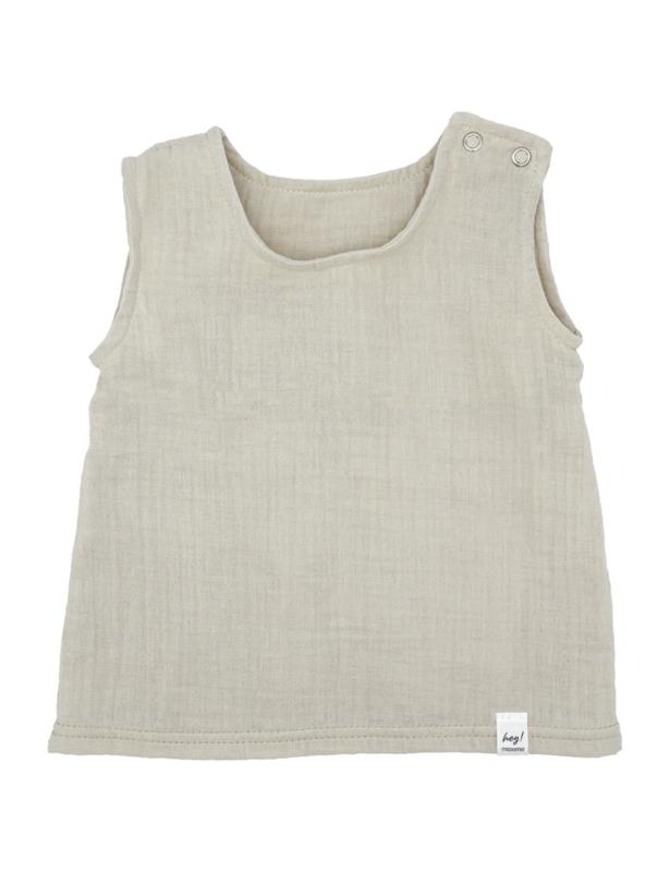 Maximo top organic cotton zand