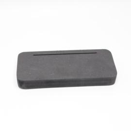 plankje kort breed voor foto of kaart gleuf 10cm zwart