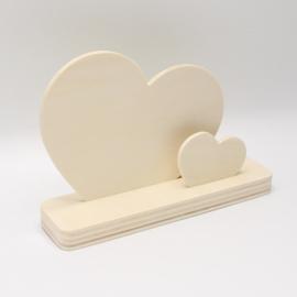 plankje met twee harten