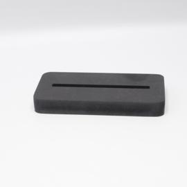 plankje los voor tegel 10x10cm zwart