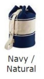 grote rugzak katoen/canvas navy