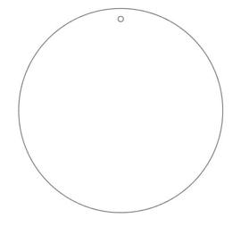 cirkel mdf 4mm 19cm gaatje