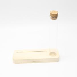 plankje smal voor foto of kaart gleuf 10cm met buisje